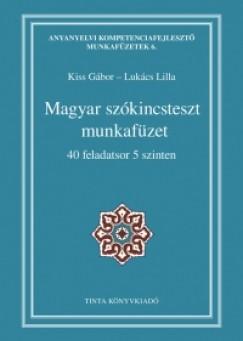 Kiss Gábor  (Szerk.) - Lukács Lilla  (Szerk.) - Magyar szókincsteszt munkafüzet