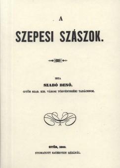Benő Szabó - A szepesi szászok