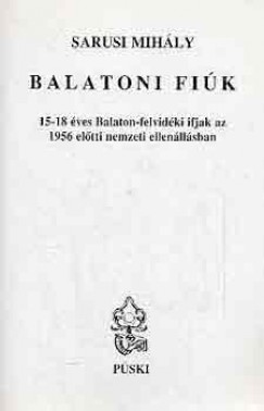 Sarusi Mihály - Balatoni fiúk