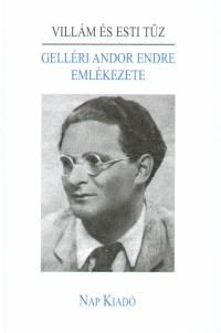 Füzi László  (Szerk.) - Villám és esti tűz - Gelléri Andor Endre emlékezete