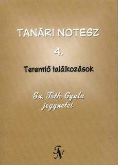 Sz. Tóth Gyula - Tanári notesz 4.