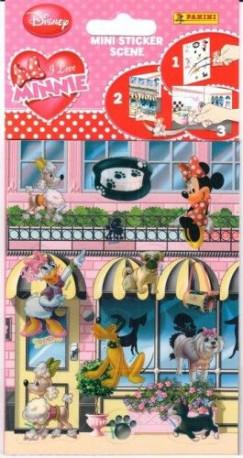 - I love Minnie - Mini sticker scene - Matricás füzet 12 darab matricával