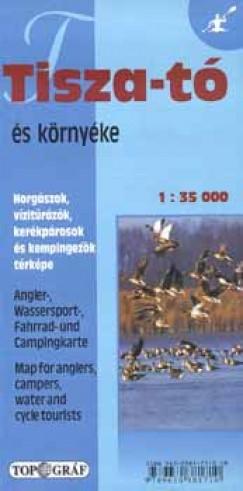 - Tisza-tó és környéke turista-, vízitúratérkép, 1 : 35 000