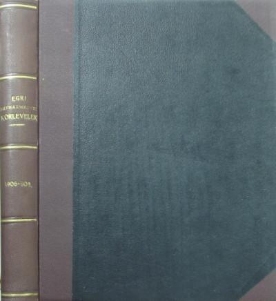- Egri Egyházmegyei Körlevelek 1906-1908