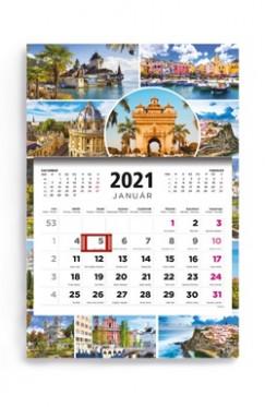 - Városok - 1 tömbös 3 havi speditőr naptár - 2021