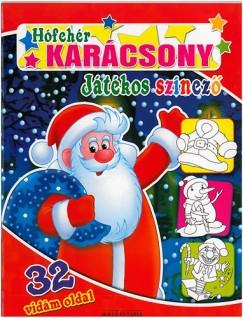 Poráczki Lilla  (Szerk.) - Hófehér karácsony - Játékos színező