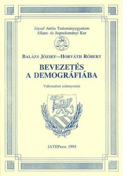 Balázs József - Horváth Róbert - Bevezetés a demográfiába