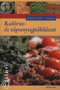 Dr. Rodler Imre - Kalória- és tápanyagtáblázat
