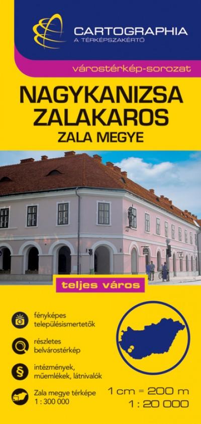 - NAGYKANIZSA, ZALAKAROS VÁROSTÉRKÉP 1:20 000