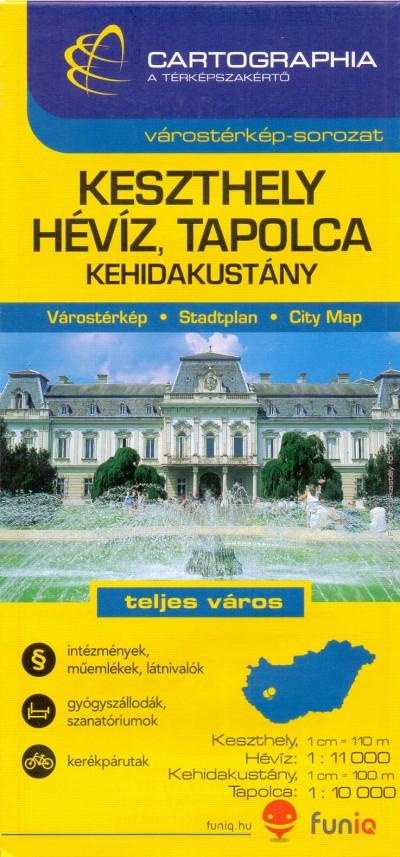 - Keszthely - Hévíz, Tapolca várostérkép