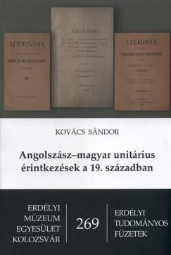 Kovács Sándor - Angolszász - magyar unitárius érintkezések a 19. században