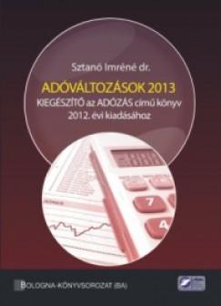 Sztanó Imréné - Adóváltozások 2013
