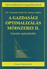 Csernyák László - Jánosa András - A gazdasági optimalizálás módszerei II.
