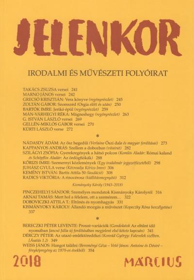 Ágoston Zoltán  (Szerk.) - Jelenkor - Irodalmi és művészeti folyóirat - 2018. március