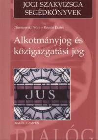 Chronowski Nóra - Rózsás Eszter - Alkotmányjog és közigazgatási jog