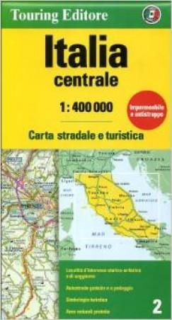 - Közép-Olaszország térkép