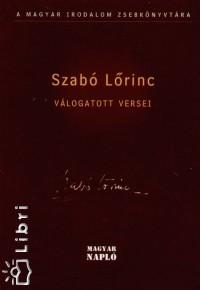Kabdebó Lóránt  (Szerk.) - Szabó Lőrinc válogatott versei