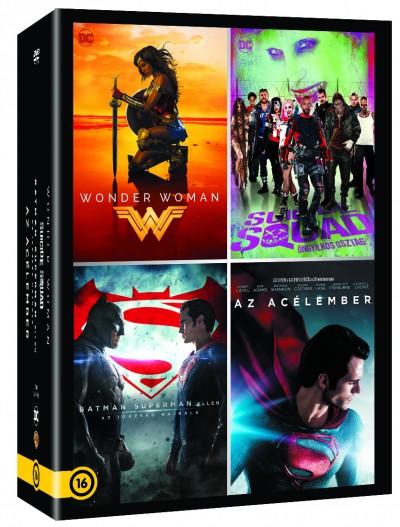 David Ayer - Patty Jenkins - Zack Snyder - DC Moziverzum 4 filmes gyűjtemény - DVD