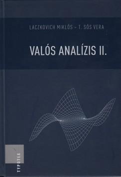 Laczkovich Miklós - T. Sós Vera - Valós analízis II.