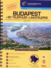 - Budapest atlasz + 90 település + lakótelepek