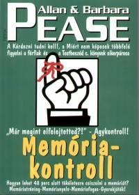 Allan Pease - Barbara Pease - Memóriakontroll