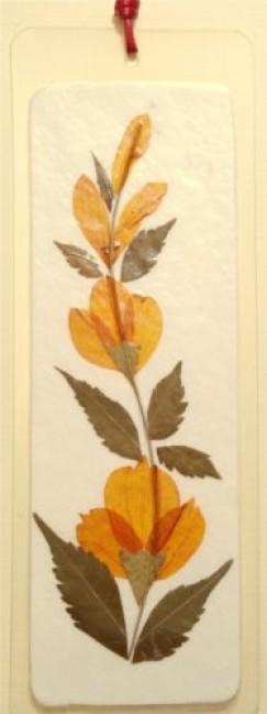 - Könyvjelző préselt virágból - orange poppy