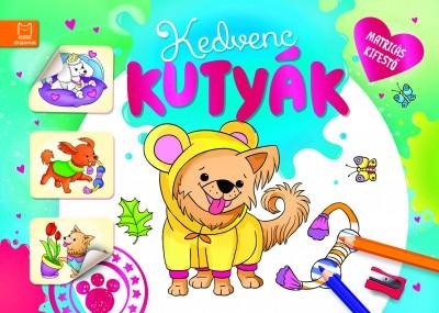Fecske Csaba - Matricás kifestő - Kedvenc kutyák