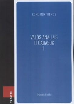 Komornik Vilmos - Valós analízis előadások 1.