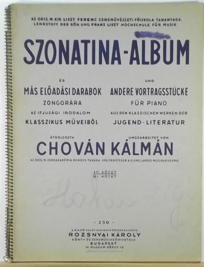 - Szonatina-album I.