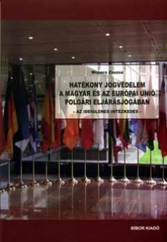 Wopera Zsuzsa - Hatékony jogvédelem a magyar és az Európai Unió polgári eljárásjogában - Az ideiglenes intézkedés