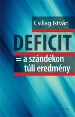 Csillag István - Deficit  = a szándékon túli eredmény