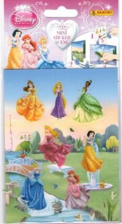 - Disney Hercegnők - Mini sticker scene - Matricás füzet 12 darab matricával