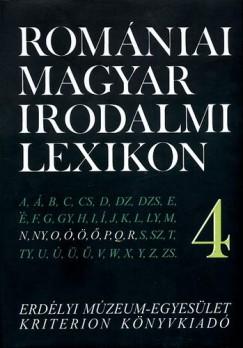 Dávid Gyula  (Szerk.) - Romániai magyar irodalmi lexikon 4. N-R